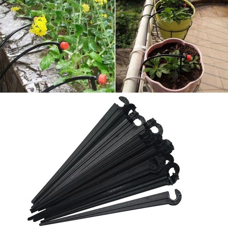 Us 8 05 35 Off 100pcs Plastic Stakes Gardens Support Utility Solid Removable Durable Fixed Rod For Tubing Flower Beds Vegetable Herbs Hose In Plant