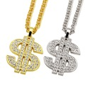 NYUKI Hip Hop Fashion Jewelry Gold/Silver Plated Long US Dollar $ Necklaces Pendants For Women Men Jewelry With Gift Box