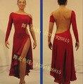 Latin dance clothes competition dress leotard sexy oblique