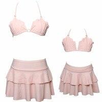 New Nhãn Hiệu Cao Chất Lượng Gia Đình Phù Hợp Với Trang Phục Mẹ Con Gái Phụ Nữ Trẻ Em Đồ Bơi Sọc Áo Tắm Monokini Bikini