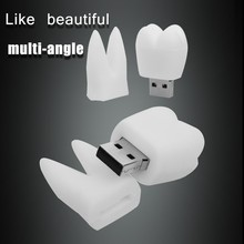 promotion High quality latest multi capacity tooth shape 1GB 2GB 4GB 8GB 16GB USB2.0 pen drive 32 gb cute