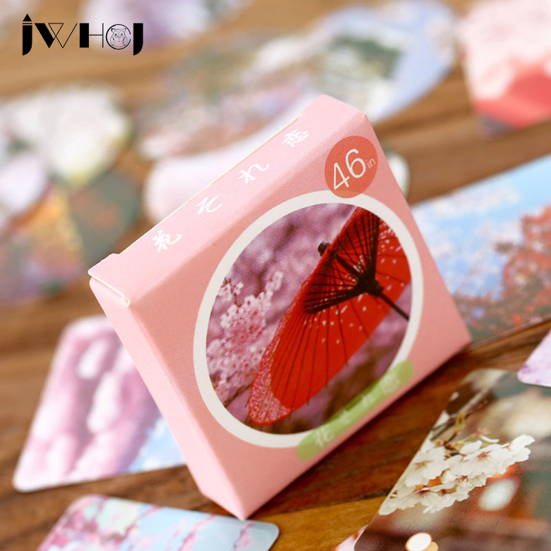 46 pcs/box JWHCJ japan cherry blossoms paper sticker decora diy diary scrapbooking sticker children favorite stationery gifts46 pcs/box JWHCJ japan cherry blossoms paper sticker decora diy diary scrapbooking sticker children favorite stationery gifts
