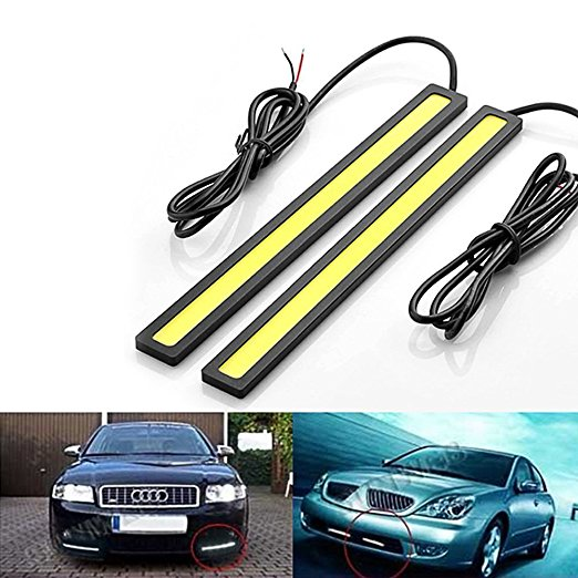 2PC COB LED Daytime Running Lights DC 12V DRL 17cm Waterproof Auto Car COB Driving Fog Lamp Ultra Bright car styling white itimo 2pcs led car headlight h3 headlamp auto fog lamp drl cob driving bulb car daytime running light car styling super bright