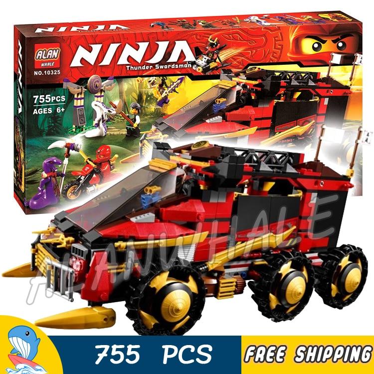 755Pcs Ninja DB X Panzer Armored Car Anacondrai Gateway Motorbike 10325 Figure Building Blocks Toys  Compatible With LagoING