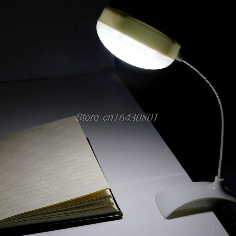 Гибкий Clip-On настольная лампа LED зажим чтение Исследование кровать ноутбука, Рабочий стол яркий свет S08 Прямая поставка