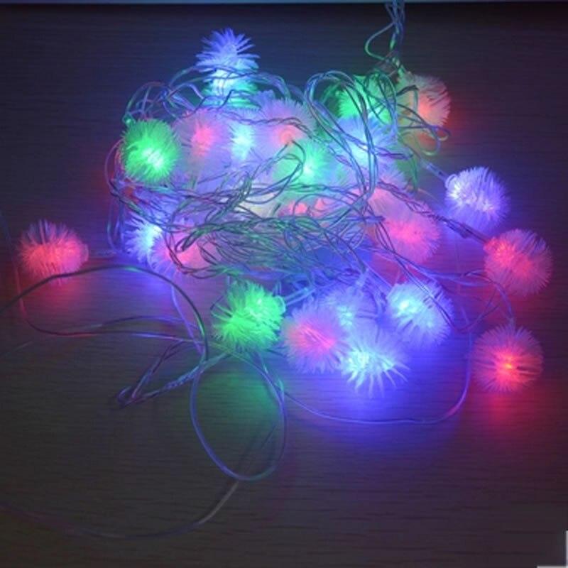 ④Batería 10 M 80 Tiras de luces de LED nieve Pompon llevó Navidad ...