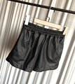 Más el Tamaño S-XXL de LA PU Pantalones Cortos De Cuero 2016 de Las Nuevas Mujeres de Negro de Alta Calidad de Los Pantalones Cortos Con Bolsillos Pantalones Cortos Ocasionales Flojos