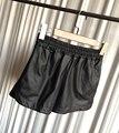 Plus Size S-XXL Shorts De Couro PU 2016 Mulheres Novo Preto de Alta Qualidade Calças Curtas Com Bolsos Soltos Shorts Casual