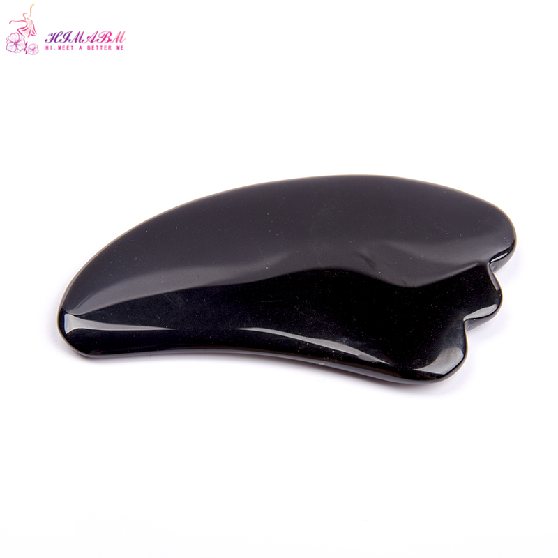 1 Pcs 100% Natural black  jade guasha board massage tool facial treatment scraping tool for body health care