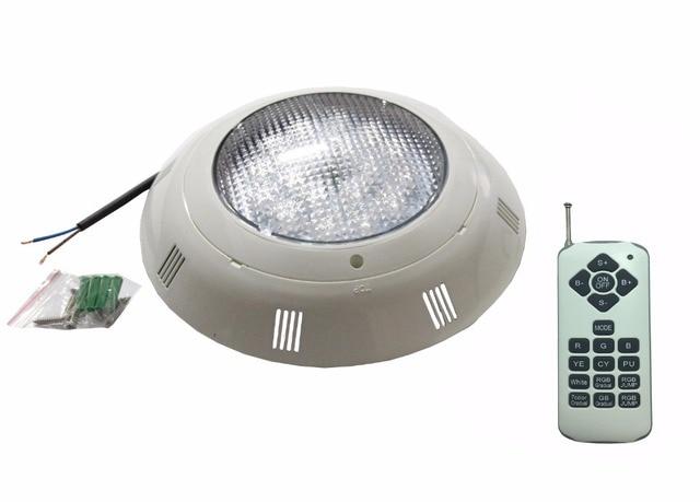 Luz LED para piscina RGBW de montaje en pared, 24W, 36W, resistente al agua, IP68, iluminación de fuente AC12V con 18 llaves, mando a distancia, 48W, 60W, 72W