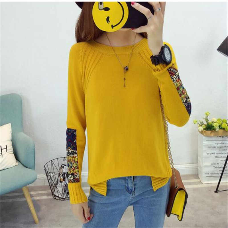 Autumn and winter clothing new loose large size pullover sweater casual Knitwear Korean short sweater women's wild sweater G900