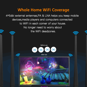 Image 5 - Tenda D305 ADSL2+ Modem WiFi Router 300Mbps Fast Wireless Router with USB2.0/ External PA Antennas, Compatible with Global ISP