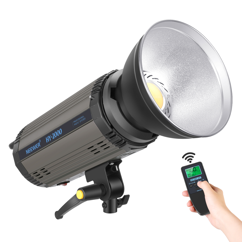 Luz de vídeo LED regulable Neewer 200Ws, luz de vídeo equilibrada de luz diurna de 5600 K, lámpara continua 21000LM con montura Bowens para YouTube