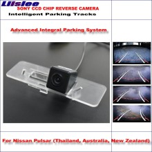 Liislee Rear Camera For Nissan Pulsar 2014 2015 Intelligent Parking Tracks Backup Reverse / Dynamic Guidance Tragectory