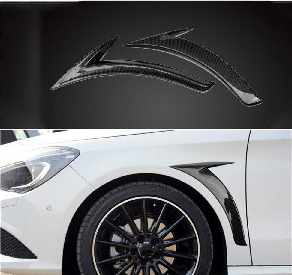 Garniture d'évent d'aile de roue avant latérale de voiture pour mercedes-benz classe C W205 Coupe Fiber de carbone 2 pièces