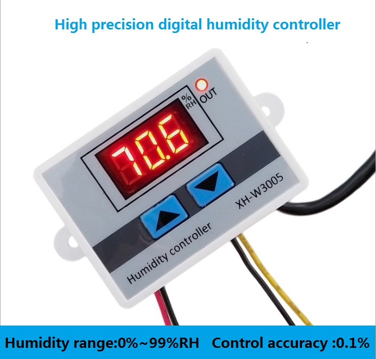 W3005 220V 12V 24V Digital Humidity Controller instrument Humidity control Switch hygrostat Hygrometer SHT20 Humidity sensor-in Sensors from Electronic Components & Supplies