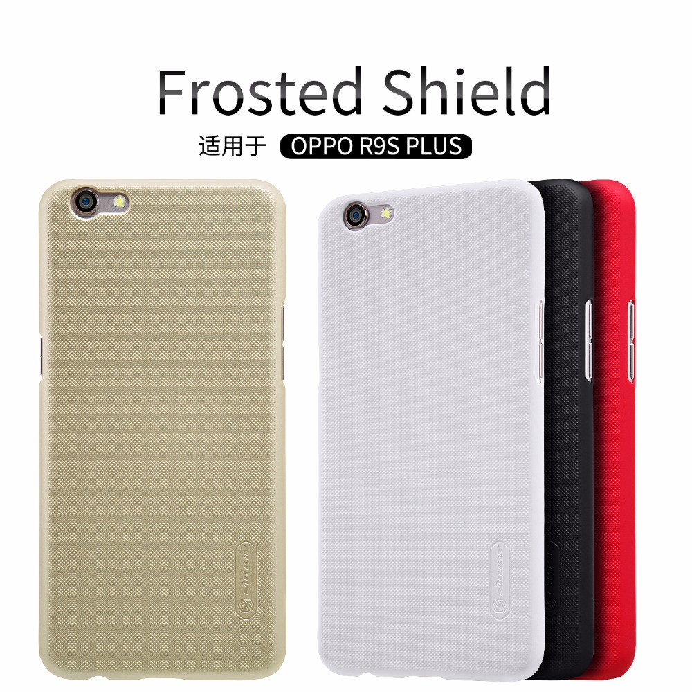OPPO R9S Plus case OPPO R9S Plus cover NILLKIN Super Frosted Shield matte back cover case with free screen protector