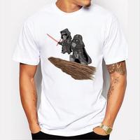 Fashion Men Star Wars Customized T Shirt The Darth King Retro Printed Cool Tops Short Sleeve