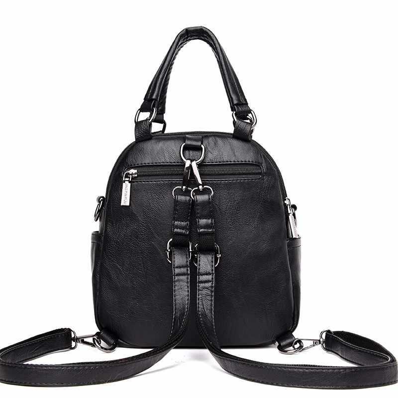 2019 маленькие кожаные рюкзаки для девочек Sac A Dos многофункциональный женский рюкзак высокого качества винтажный рюкзак женские рюкзаки Новинка
