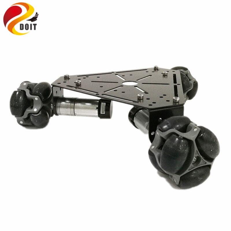 DOIT W3 Smart Robot Car Platform with Omni Universal Wheel, High hardness of steel for Arduino DIY цена