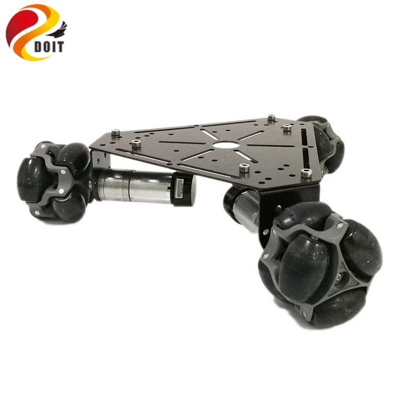 DOIT W3 Smart Robot Car Platform with Omni Universal Wheel, High hardness of steel for Arduino DIY
