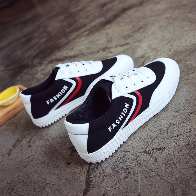 Hemmyi 2018 Fashion Women Canva Shoes Spring New Vulcanize Shoes Female Lace Up Sneakers Casual Tenis Feminino Chaussures Femme