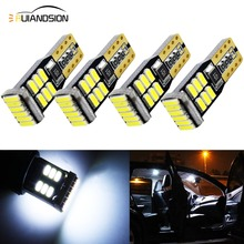 цена на 4pcs T10 Canbus 3014 18 SMD Led Canbus W5W T10 Led Bulbs Clearance Trunk Wedge Lights Auto Car license plate Light AC/DC 12V