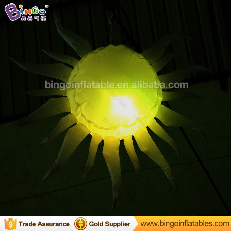 Led inflatable sun light for stage decoration 80cm high custom sun flower with led lights for wholesale promotion inflatable party sun decoration inflatable light star