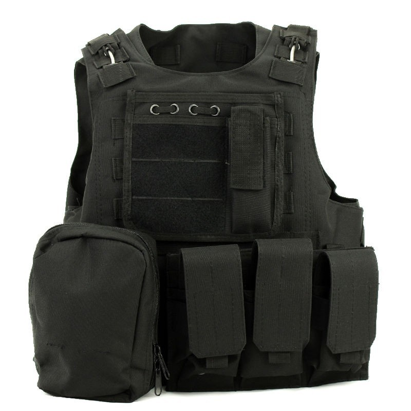 ФОТО AAV Tactical Combat Airsoft Paintball Hunting Shooting Combat Molle Vest Chest Rig Harness W/ Triple 5.56mm Mag Pouch