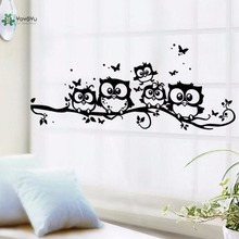 YOYOYU Vinyl Wall Decal Cute Cartoon Bunch Of Owls Kids Room Bedroom Removable Home Decoration Stickers FD168