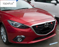 Accessories For Mazda 3 AXELA Sedan 2014 2015 2016 Front Hood Bonnet Grille Grill + Rear Trunk Tailgate Strip Cover Kit Trim