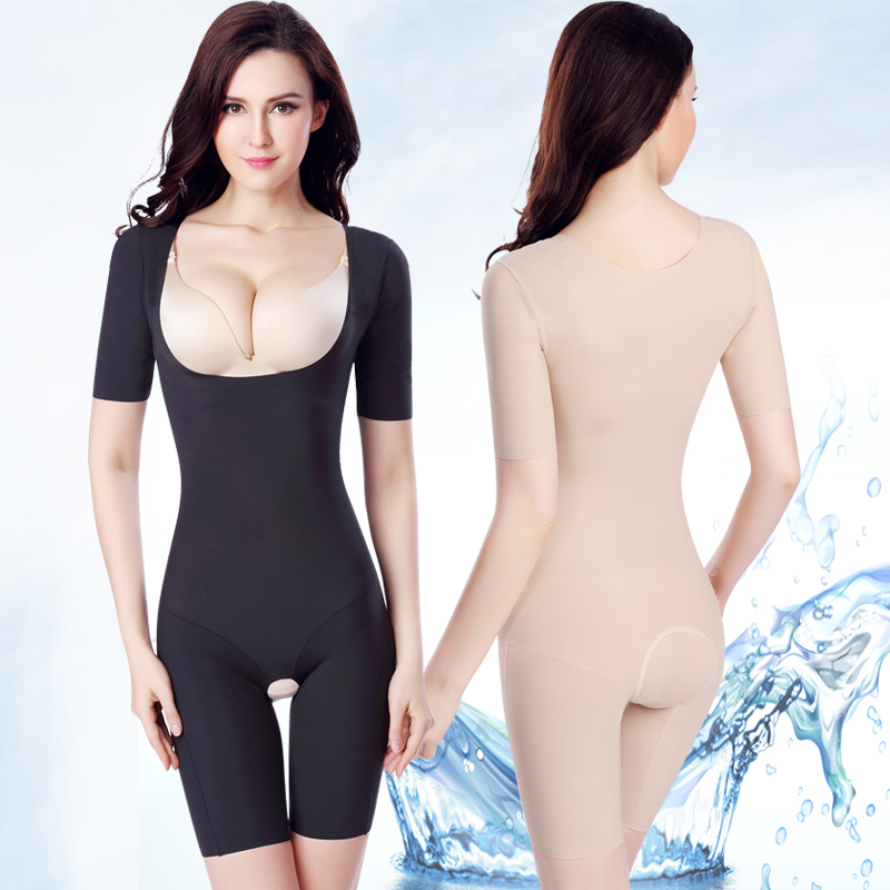 0c7ba9ad45 Postpartum abdomen short sleeve drawing seamless one piece shaper body  shaping underwear slimming clothes shapewear beauty care-in Bodysuits from  Underwear ...