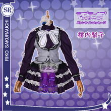 Anime  Guilty Kiss Lovelive Sunshine  Sakurauchi Riko Rock and Roll Costume Cosplay Costume  Lovely Maid Outfit Lolita Dress  H