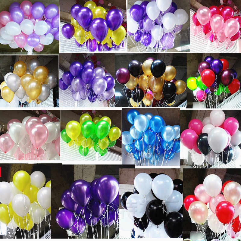 10pcs 10inch 2.2g White Heart Latex Balloons Children Party Decoration Wedding Ballon Marriage Birthday Helium Air Balls Boy Toy
