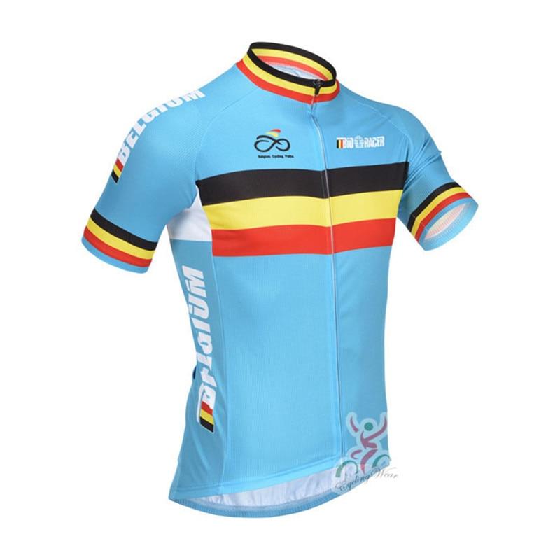 7118e584b ... belgium pro team cycling jersey men bicycle maillot gel pad shorts  short sleeve sets mtb bike
