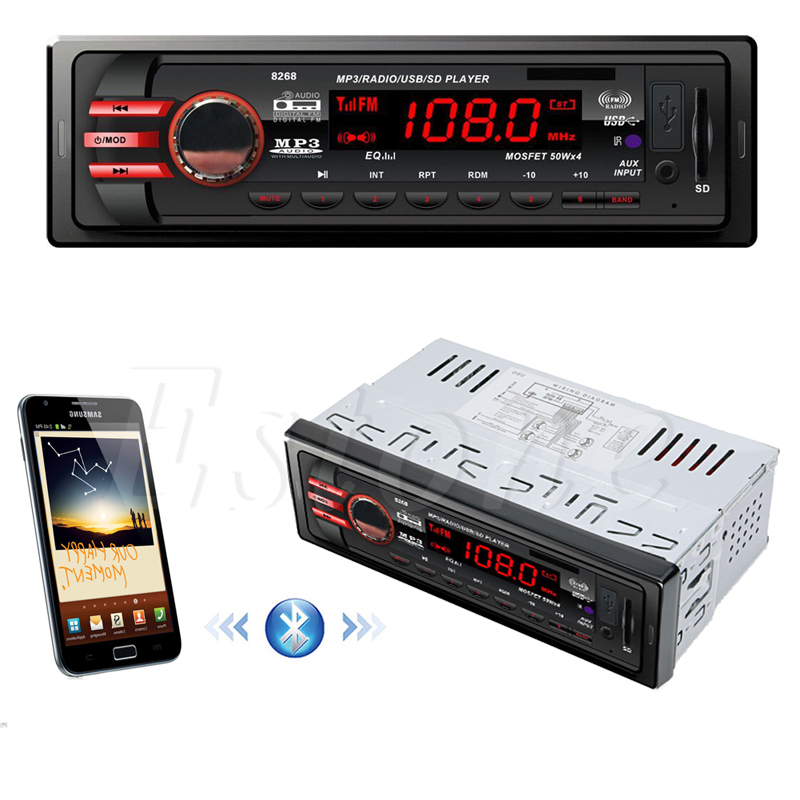 DC 12V Car USB SD 1 DIN Bluetooth Audio Receiver In Dash FM Aux MP3 Stereo Radio G6KC in Bluetooth Car Kit from Automobiles Motorcycles