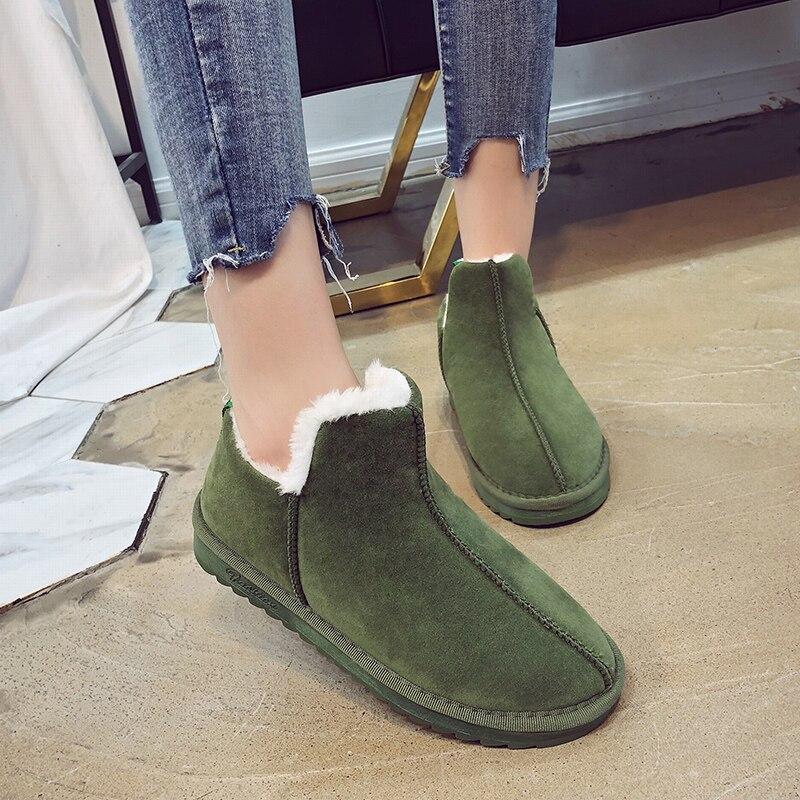 577514107 Botines verde Deslizamiento Alta Planos Invierno Botas gris khaki Negro En  Algodón Plantilla Zapatos De Casual 2018 Calidad Nieve Cortas Tobillo Mujer  ...