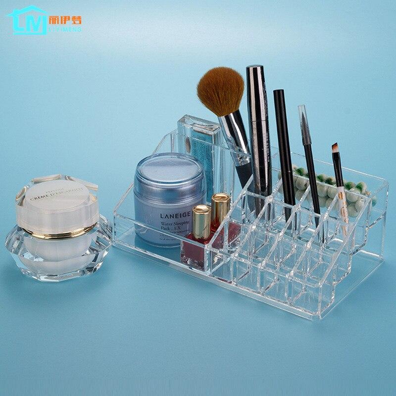 LIYIMENG Makeup Organizer Crystal Acrylic Cosmetic Casket ...