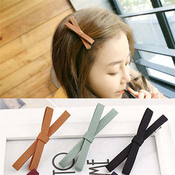 2020 Cotton Cloth bow hair accessories girl hairpin Korean version Refined handmade cloth bangs clip woman heardress wholesale image