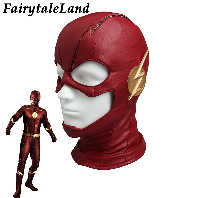 The Flash Mask Carnival Halloween costume accessories Superhero Hat Flash Season 4 Mask Cosplay Flash Helmet
