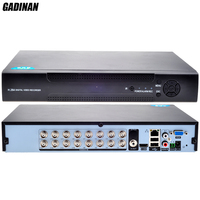 GADINAN 16CH AHD M Home DVR Recorder Hybrid:8*720P (analog) + 8*720P(network) 3G Wifi DVR Recorder ONVIF Support 2 SATA HDD