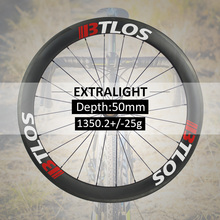 Extralight carbon wheels 1350g Warranty 2 years clincher road bike 700c 50mm deep disc brake available - WRC-50L