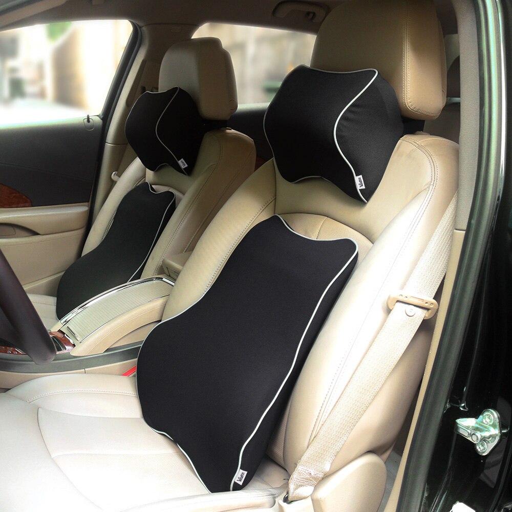 valuetom space memory foam car lumbar support pillow auto neck pillow headrest lumbar pillow small holes