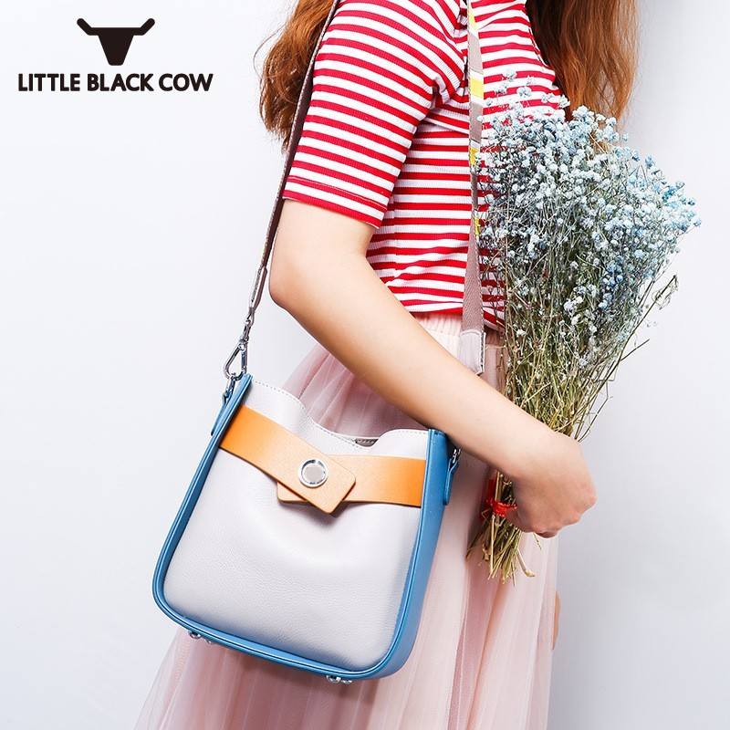 High Quality Luxury Womens Messenger Bag Fashion Match Color Genuine Leather Shoulder Bags Streetwear Casual Crossbody BagsHigh Quality Luxury Womens Messenger Bag Fashion Match Color Genuine Leather Shoulder Bags Streetwear Casual Crossbody Bags