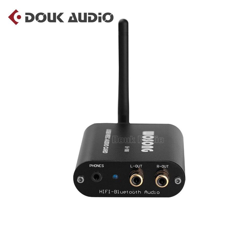 цена на Douk audio Hi-Fi Bluetooth V4.2 Audio Receiver DAC Decoder Digital Turntable Headphone/OPT/COAX Digital APT-X