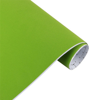 10/30*100cm Suede Vinyl Film Velvet Fabric Car Change Color Sticker Adhesive DIY Decoration Decal Auto Motorcycle Accessories - Apple Green, 50x600cm