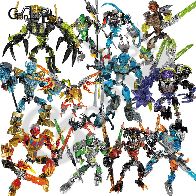 27 Styles Hero Factory Bionicle CALI Master Of Water Figures Building Block Bricks DIY Toys For Children Compatible With