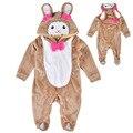 Venda quente Do Bebê Menina Romper Bonito Sheep Animal Caráter Global Jumpersuit Infantil Traje de Halloween Da Criança Primavera Outono Inverno