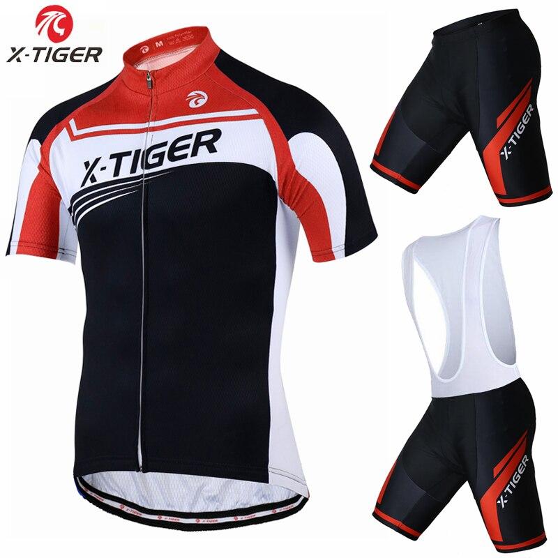 Prix pour X-Tigre Marque 2017 Cyclisme Maillot 100% Polyester VTT Vélo Vêtements Kit Vélo De Course Uniformes Maillot Ropa Ciclismo pour Mans