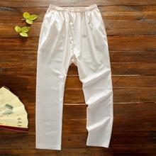 Plus XXXL 2018 Men Summer Linen Kongfu Pants Cotton Linen Casual Trousers Kung Fu Men's Clothing In Traditional Chinese Bottoms